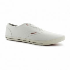 SPIDER Mens Canvas Trainers Bright White