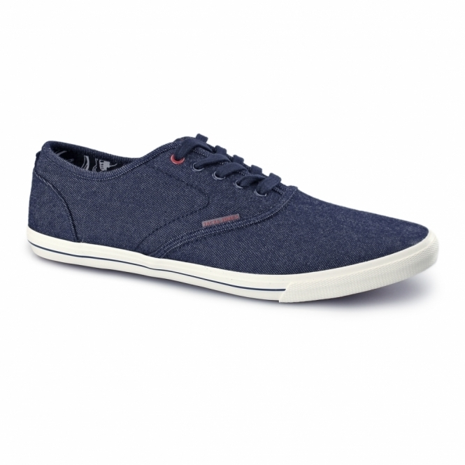 Jack & Jones SPIDER Mens Denim Trainers Blue Denim