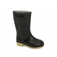 SPLASH Kids Junior PVC Wellington Boots Black