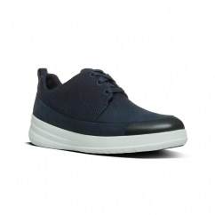 SPORTY-POP™ Ladies Suede Lace Up Trainers Supernavy
