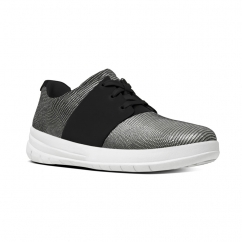SPORTY-POP X LIZARD™ Ladies Suede Lace Up Trainers Black