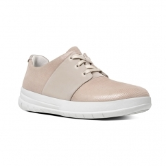 SPORTY-POP X LIZARD™ Ladies Suede Lace Up Trainers Nude Pink