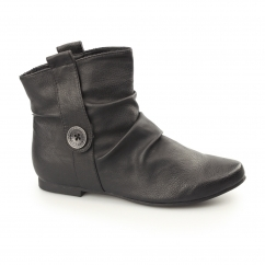 F4325 Ladies Pull On Slouch Boots Black