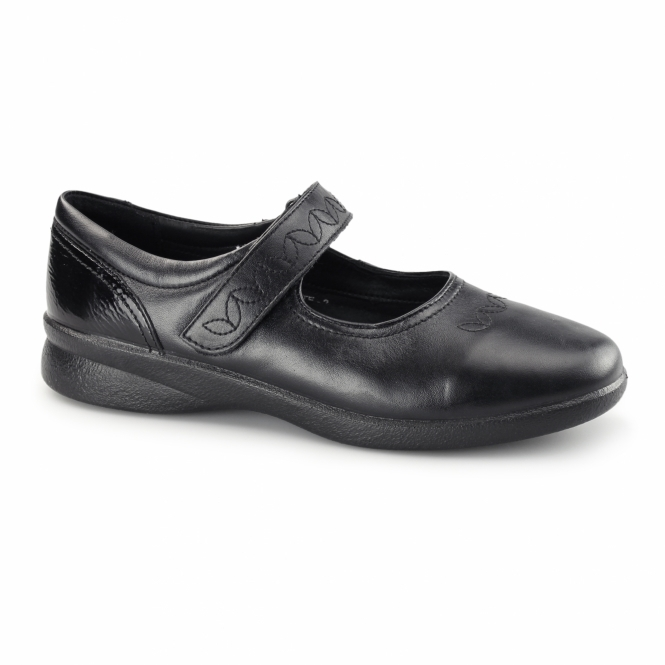 Padders SPRITE Ladies EEE/EEEE Wide Fit Velcro Shoes Black