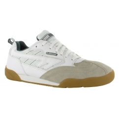 SQUASH CLASSIC Unisex Lace Up Sports Trainers White/Green