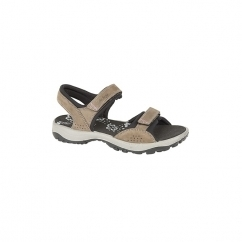 STACEY Ladies Velcro Nubuck Sports Sandals Brown