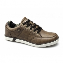 EDGAR Mens Lace-Up Padded Casual Shoes Tan