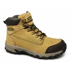 MILFORD Mens Steel Toe Slip Resistant Safety Boots Honey