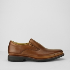 Steptronic ANDREA Mens Leather Slip On Shoes Cognac
