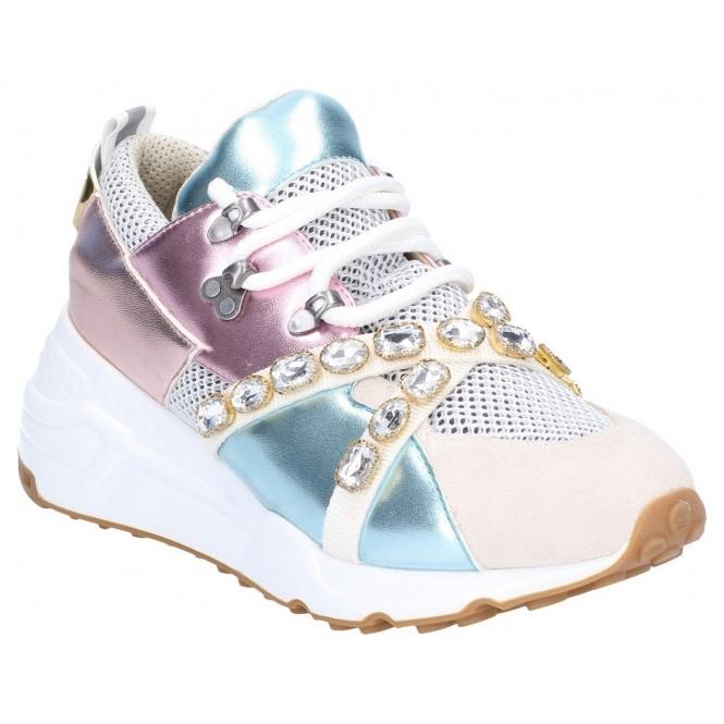 f0a92984371 CREDIT Ladies Mesh Fashion Trainers Metallic/Multi