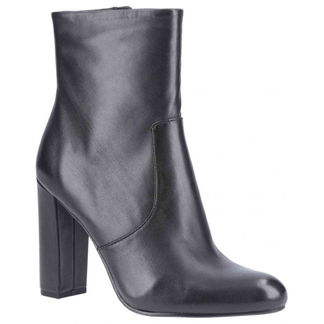 EDITOR Ladies Leather Ankle Boots Black