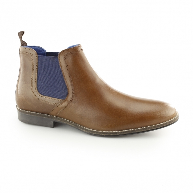 Red Tape STOCKWOOD Mens Leather Chelsea Boots Tan