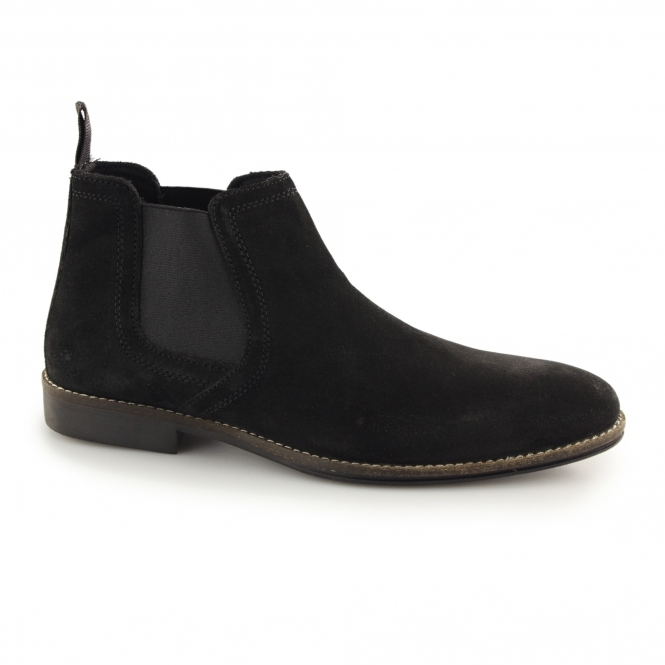 Red Tape STOCKWOOD Mens Suede Chelsea Boots Black