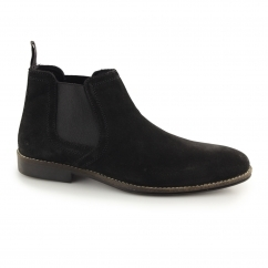 STOCKWOOD Mens Suede Chelsea Boots Black