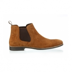 STOCKWOOD Mens Suede Chelsea Boots Tan