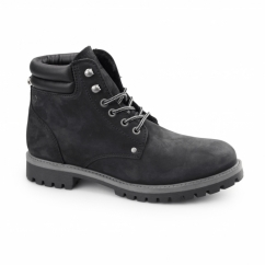 STOKE Mens Nubuck Warm Work Styled Boots Black