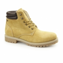 STOKE Mens Nubuck Warm Work Styled Boots Honey