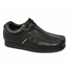 STORM Mens Leather Moccasin Casual Shoes Black