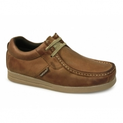 STORM Mens Leather Moccasin Casual Shoes Tan
