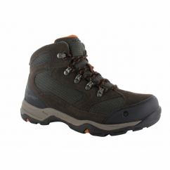 STORM WP Mens Hiking Boots Chocolate/Orange