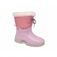 FRANCIS Girls Kids Warm Wellington Boots Pink