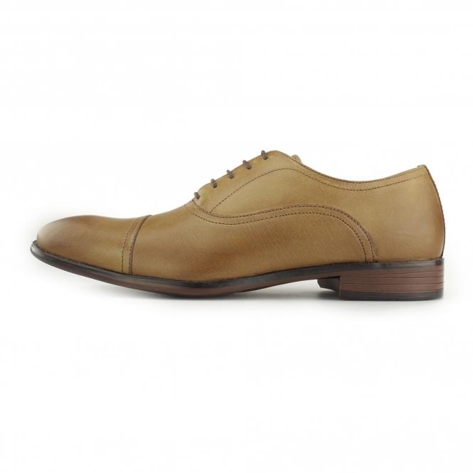 Chaussures Embout De Tracasseries Administratives En Oxford Cuir Beige - Tan LouFCKqz