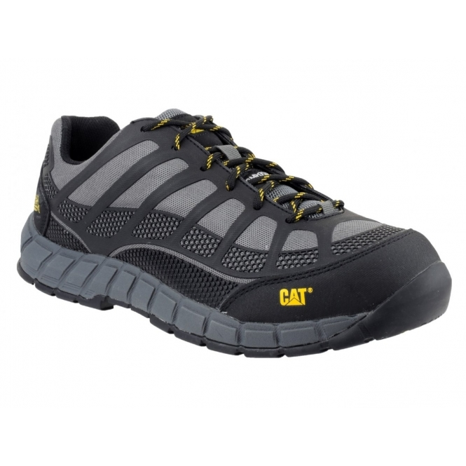 Cat ® STREAMLINE Mens Composite S1 P HRO SRC Safety Trainers Charcoal