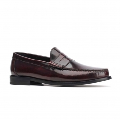 Base London STRIKE Mens Leather Loafers Bordo