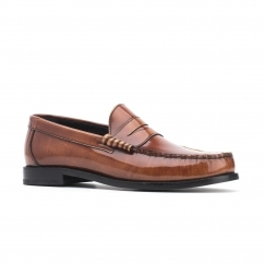 Base London STRIKE Mens Leather Loafers Tan