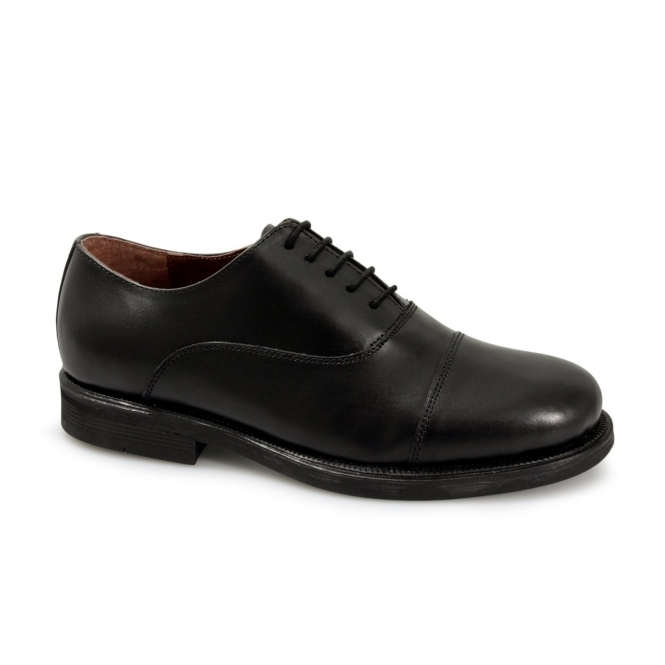 Scimitar STUART Unisex 5 Eyelet Leather Oxford Uniform Shoes Black