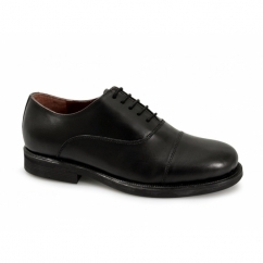 STUART Unisex 5 Eyelet Leather Oxford Uniform Shoes Black