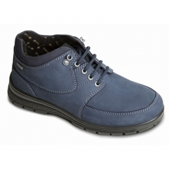 SUMMIT Ladies Waterproof Leather Dual Fit Lace Up Boots Denim Blue