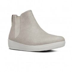FitFlop™ SUPERCHELSEA™ Ladies Canvas Chelsea Boots Toasty Beige