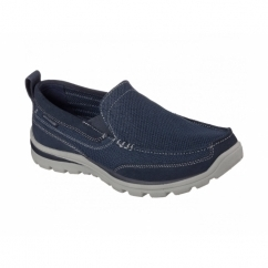 SUPERIOR MILFORD Mens Relaxed Fit Loafers Navy