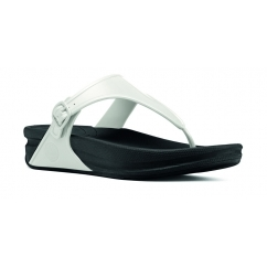 SUPERJELLY™ Ladies Rubber Toe Post Sandals Urban White