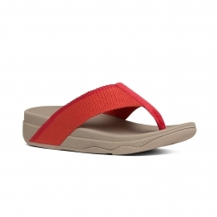 FitFlop™ SURFA™ (PRETTY) Ladies Toe Post Sandals Hot Coral/Sporty Pink