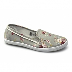 SWIFT Ladies Canvas Plimsolls Grey