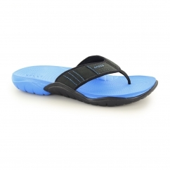 Crocs SWIFTWATER FLIP Mens Flip Flops Ocean/Black