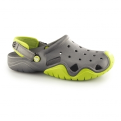 Crocs SWIFTWATER Mens Croslite Clogs Volt Green/Graphite