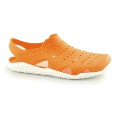 Crocs SWIFTWATER WAVE Mens Croslite Sandals Orange/White