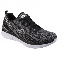 Skechers Synergy 2.0 High Spirits Ladies Trainers Black/Grey