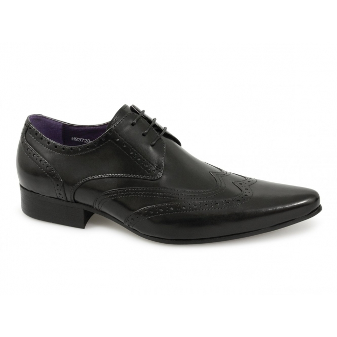Gucinari TAMINO Mens Leather Brogue Formal Shoes Black