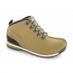 TED Mens Faux Leather Ankle Boots Wheat
