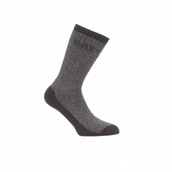 THERMO Full Length Thermal Crew Socks Black/Grey 2 Pairs