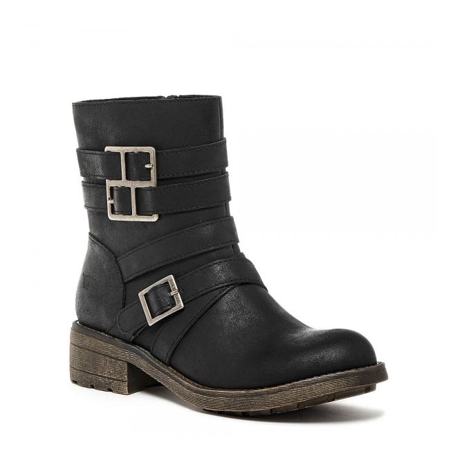 09d2933c477 Rocket Dog THROTTLE Ladies Ankle Boots Black
