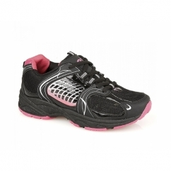 TIFFANY 3 Ladies Casual Gym Running Trainers Black
