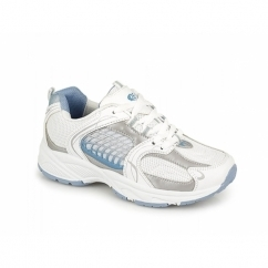 TIFFANY 3 Ladies Casual Gym Running Trainers White/Blue