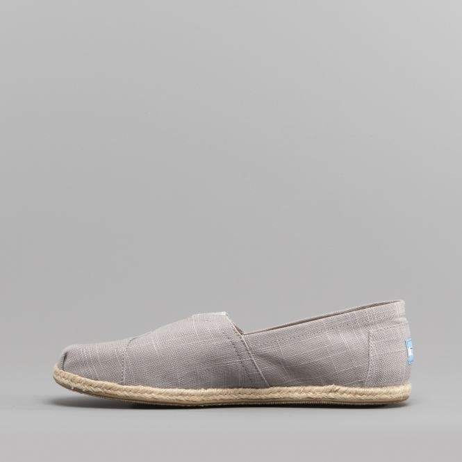 ALPARGATA 10008381 Mens Linen Slip On Shoes Grey