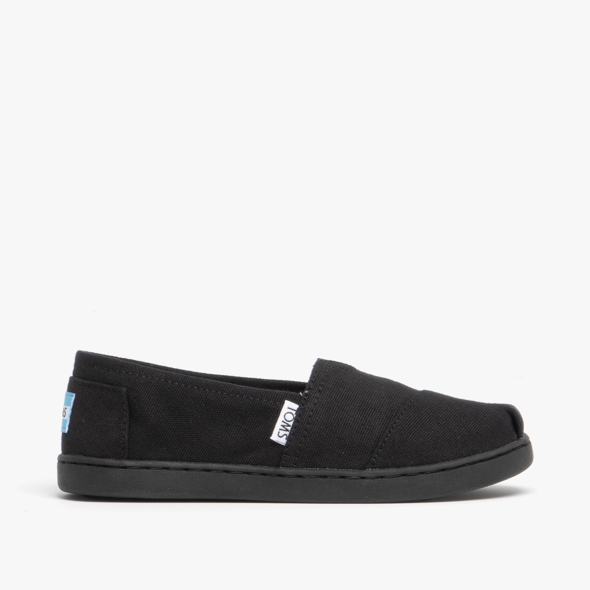 TOMS ALPARGATA Junior Canvas Slip On Shoes Black