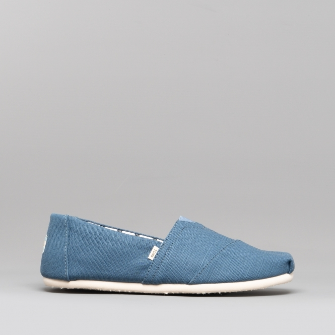 2b6a607169 TOMS ALPARGATA Mens Canvas Slip On Shoes Mallard Blue | Shuperb